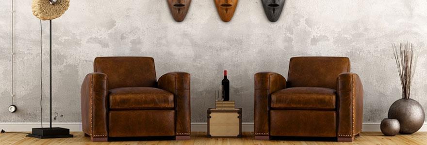 Le fauteuil cuir club